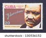 cuba   circa 1986  a postage... | Shutterstock . vector #130536152