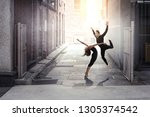 moving to the beat. mixed media | Shutterstock . vector #1305374542
