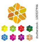design flower logo element.... | Shutterstock .eps vector #130537946