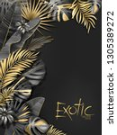 vector exotical background with ... | Shutterstock .eps vector #1305389272