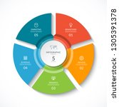 vector infographic circle.... | Shutterstock .eps vector #1305391378