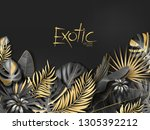 vector exotical background with ... | Shutterstock .eps vector #1305392212