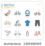 bicycle icon for website ... | Shutterstock .eps vector #1305400345