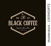 coffee vintage logo design... | Shutterstock .eps vector #1305403972