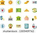 color flat icon set   coins... | Shutterstock .eps vector #1305409762