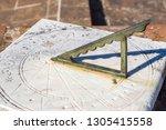 Ancient Sundial In Evora ...