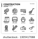 construction  icon set | Shutterstock .eps vector #1305417088