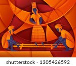 vector design of couple... | Shutterstock .eps vector #1305426592