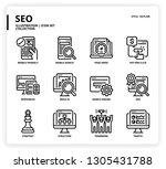 seo icon set | Shutterstock .eps vector #1305431788