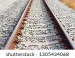 railroad tracks transportation    Shutterstock . vector #1305434068