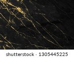 black and gold marble texture... | Shutterstock . vector #1305445225