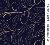 seamless olive background on... | Shutterstock .eps vector #1305460762
