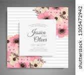 wedding invitation. beautiful... | Shutterstock .eps vector #1305472942