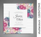 wedding invitation. beautiful... | Shutterstock .eps vector #1305472945