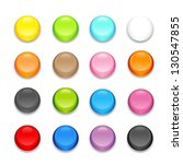 set of colorful buttons | Shutterstock .eps vector #130547855