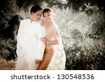 the portrait of thai bride and... | Shutterstock . vector #130548536