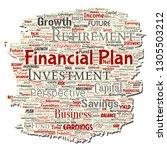 vector conceptual business or... | Shutterstock .eps vector #1305503212
