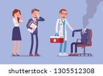 burnout office worker and a... | Shutterstock .eps vector #1305512308