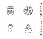4 line burger  salt shaker ... | Shutterstock .eps vector #1305512755