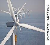 offshore wind turbine farm | Shutterstock . vector #130551422