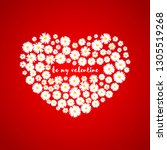heart valentines day card.... | Shutterstock .eps vector #1305519268
