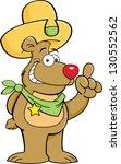 cartoon illustration of a bear... | Shutterstock . vector #130552562