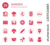 garden icon set. collection of... | Shutterstock .eps vector #1305526885