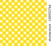 Yellow And White Gingham Cloth...