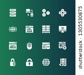 www icon set. collection of 16...   Shutterstock .eps vector #1305530875
