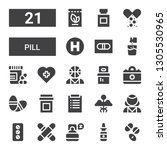 pill icon set. collection of 21 ... | Shutterstock .eps vector #1305530965