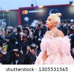 lady gaga walks the red carpet... | Shutterstock . vector #1305531565