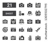 shoot icon set. collection of... | Shutterstock .eps vector #1305532795