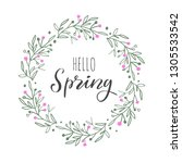hello spring vector handwritten ... | Shutterstock .eps vector #1305533542