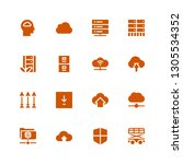 upload icon set. collection of... | Shutterstock .eps vector #1305534352