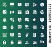 www icon set. collection of 36...   Shutterstock .eps vector #1305535828