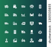 deliver icon set. collection of ... | Shutterstock .eps vector #1305535855