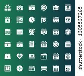 date icon set. collection of 36 ... | Shutterstock .eps vector #1305537265