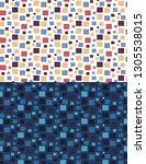 geometric seamless pattern of... | Shutterstock .eps vector #1305538015