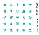 branch icon set. collection of... | Shutterstock .eps vector #1305538942