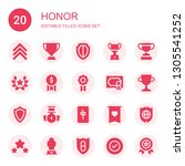 honor icon set. collection of... | Shutterstock .eps vector #1305541252