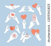 Hands Holding Love Symbols....