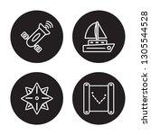 4 linear vector icon set  ...   Shutterstock .eps vector #1305544528