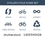 cycle icons. trendy 6 cycle... | Shutterstock .eps vector #1305545428
