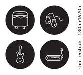 4 linear vector icon set  ... | Shutterstock .eps vector #1305546205