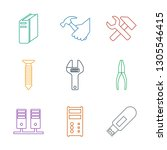 hardware icons. trendy 9... | Shutterstock .eps vector #1305546415