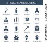 flame icons. trendy 16 flame... | Shutterstock .eps vector #1305546535