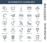 domestic icons. trendy 25... | Shutterstock .eps vector #1305547348
