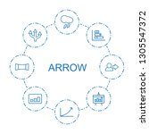 8 arrow icons. trendy arrow... | Shutterstock .eps vector #1305547372