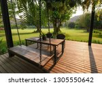 Wooden Chair With Table And...