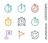 finish icons. trendy 9 finish... | Shutterstock .eps vector #1305552892